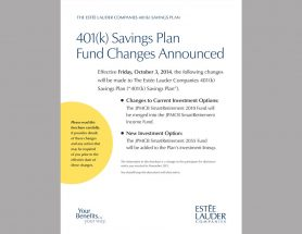 401(k) Fund Changes